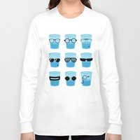 glasses Long Sleeve T-shirts featuring Glasses by Zach Terrell