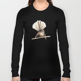 Piwakawaka / Fantail - a native New Zealand bird 2011 Long Sleeve T-shirt