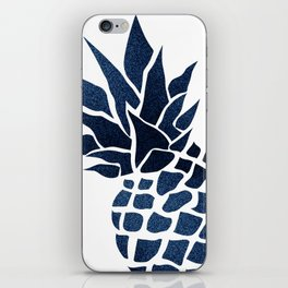 Pineapple, Big Blue, Denim Navy iPhone Skin