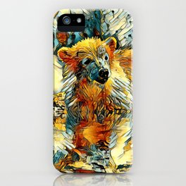 AnimalArt_Polarbear_20170701_by_JAMColorsSpecial iPhone Case