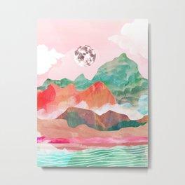 Moon Peak Metal Print