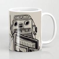 robot Mugs featuring Robot. by Scott Mckenzie-Lee