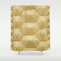 tortoise Shower Curtains featuring Tortoise Shell by Screen Candy