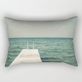 Mint Lake Escape  Rectangular Pillow