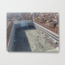 View of St. Mark's Square From St Mark's Campanile. Metal Print