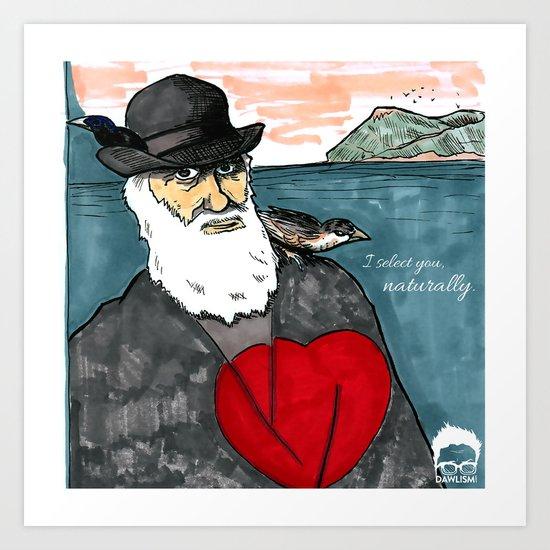 A Darwinian Heart Art Print