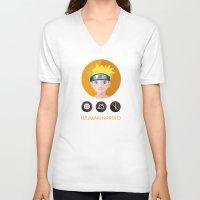 naruto V-neck T-shirts featuring naruto by pixel.pwn   AK