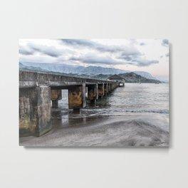 Hanalei Pier Kauai  Metal Print