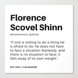 44   | Florence Scovel Shinn Quotes | 200126 Canvas Print