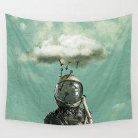 rain Wall Tapestries featuring Rain by Seamless