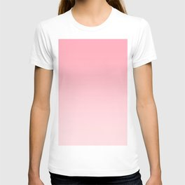 Pink to Pastel Pink Horizontal Linear Gradient T-shirt