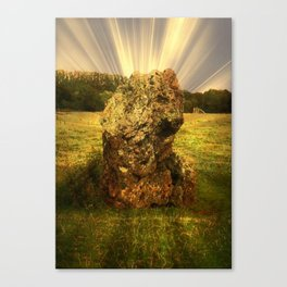 Ancient Stone at Stanton Drew, Somerset. Canvas Print