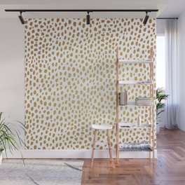 Gold Spots (gold/white) Wall Mural