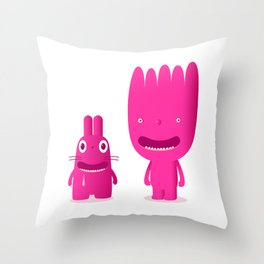 mouth breathers Throw Pillow