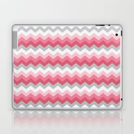 Chevron Pink & Grey Laptop & iPad Skin