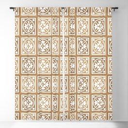 tile floral pattern Blackout Curtain