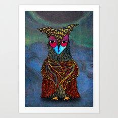Owl-Girl Art Print