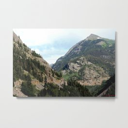 Driving the Spectacular, but Perilous Uncompahgre Gorge, No. 2 of 5 Metal Print