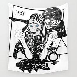 Libra - Zodiac Sign Wall Tapestry