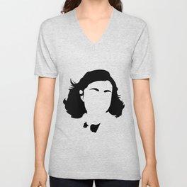 Faceless Anne Frank Unisex V-Neck