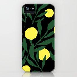 Pastel Lemons / Green and Yellow Refreshing Lemon Print / Abstract Lemon Vibes / Summer Lemons iPhone Case