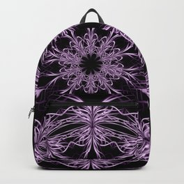 Mandala purple and black Backpack