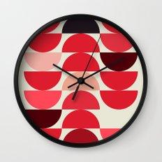 Red Bowls Wall Clock