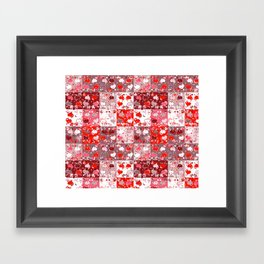 Abstract seamless backgrounds. Patchwork, american countryside style. Framed Art Print