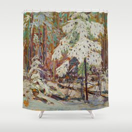 Tom Thomson Snow in the Woods Canadian Landscape Artist Shower Curtain