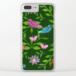 zakiaz magical forest Clear iPhone Case