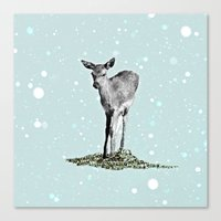 bambi Canvas Prints featuring Bambi by Monika Strigel