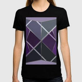 Mosaic tiled glass with a laser show T-shirt
