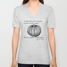 Thoreau's Pumpkin Unisex V-Neck