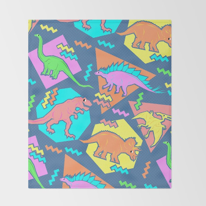 Nineties Dinosaur Pattern Throw Blanket By Chobopop Society40 Best Dinosaur Throw Blanket
