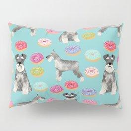 Schnauzer dog breed donuts doughnut pet art schnauzers pure breed gifts Pillow Sham