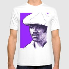 Donny Hathaway White MEDIUM Mens Fitted Tee