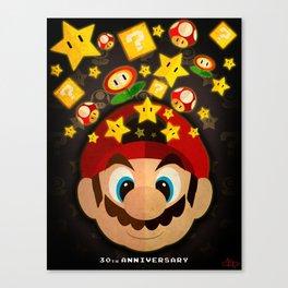Mario Bros 30th Anniversary Canvas Print