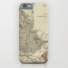 Map of Idaho 1888 iPhone Case