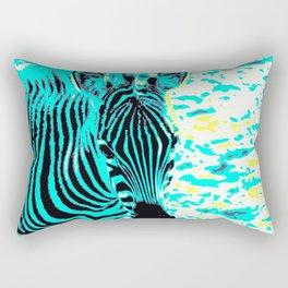 Pop Art Zebra 1 Rectangular Pillow