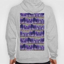 Purple Amethyst Geode Mountains Hoody
