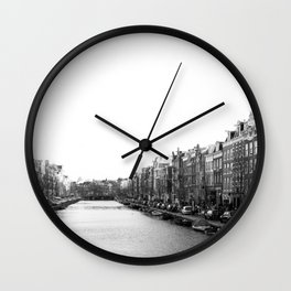 canal in Amsterdam Wall Clock