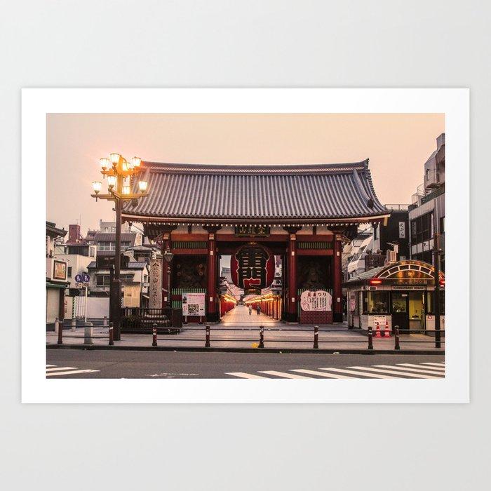 Senso-Ji Temple Tokyo Japan Photography ArtWork Art Print