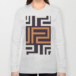 African Tribal Pattern No. 51 Long Sleeve T-shirt