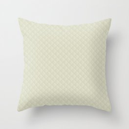 Beige Puffy Stitched Quilt Fabric Throw Pillow