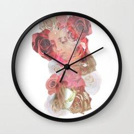 La Virgen de Guadalupe series: Las Rosas Wall Clock