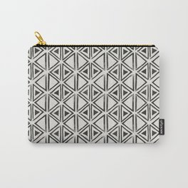 Block Print Diamond Carry-All Pouch