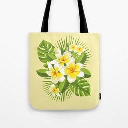 Tropical Bouquet. Plumeria Tote Bag