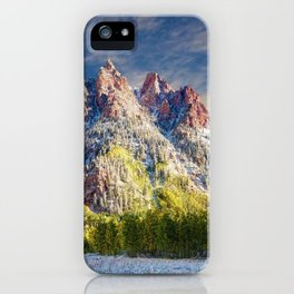 First Snow Maroon Bells iPhone Case