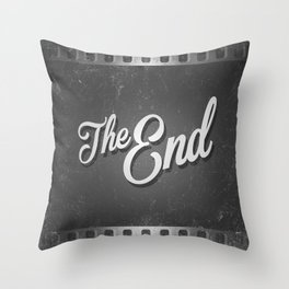 The End / poster Throw Pillow