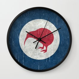 "New Zealand ""Kiwi"" Roundel Wall Clock"